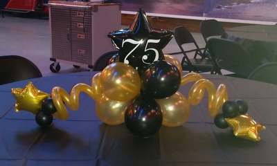 Adult birthday party balloon decor tulsa ok for 75th birthday decoration ideas