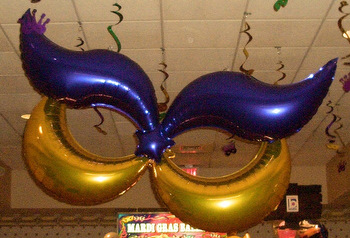 Mardi Gras Balloon Decor, Columns, Arches and Centerpieces ~ Tulsa, OK