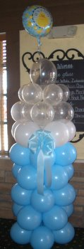 Baby shower balloon decor for Baby bottle balloon decoration
