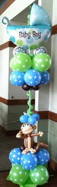 Celebrate with balloons balloon bouquet delivery tulsa characters event decorating - Monkey balloons for baby shower ...