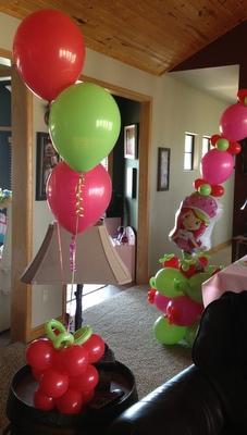 Strawberry Shortcake Birthday Balloon Party Theme ~ Tulsa, OK