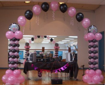 Childrens birthday party balloons for Balloon decoration ideas for sweet 16