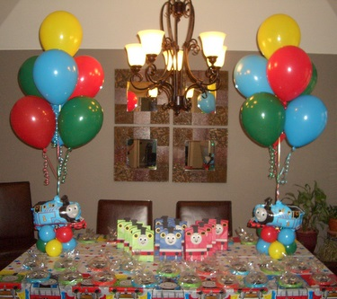 Kids birthday party balloon decorations for Balloons decorations for birthday at home