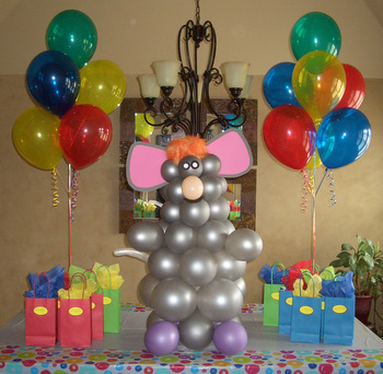 Kids birthday party balloon decorations for Balloon decoration at home
